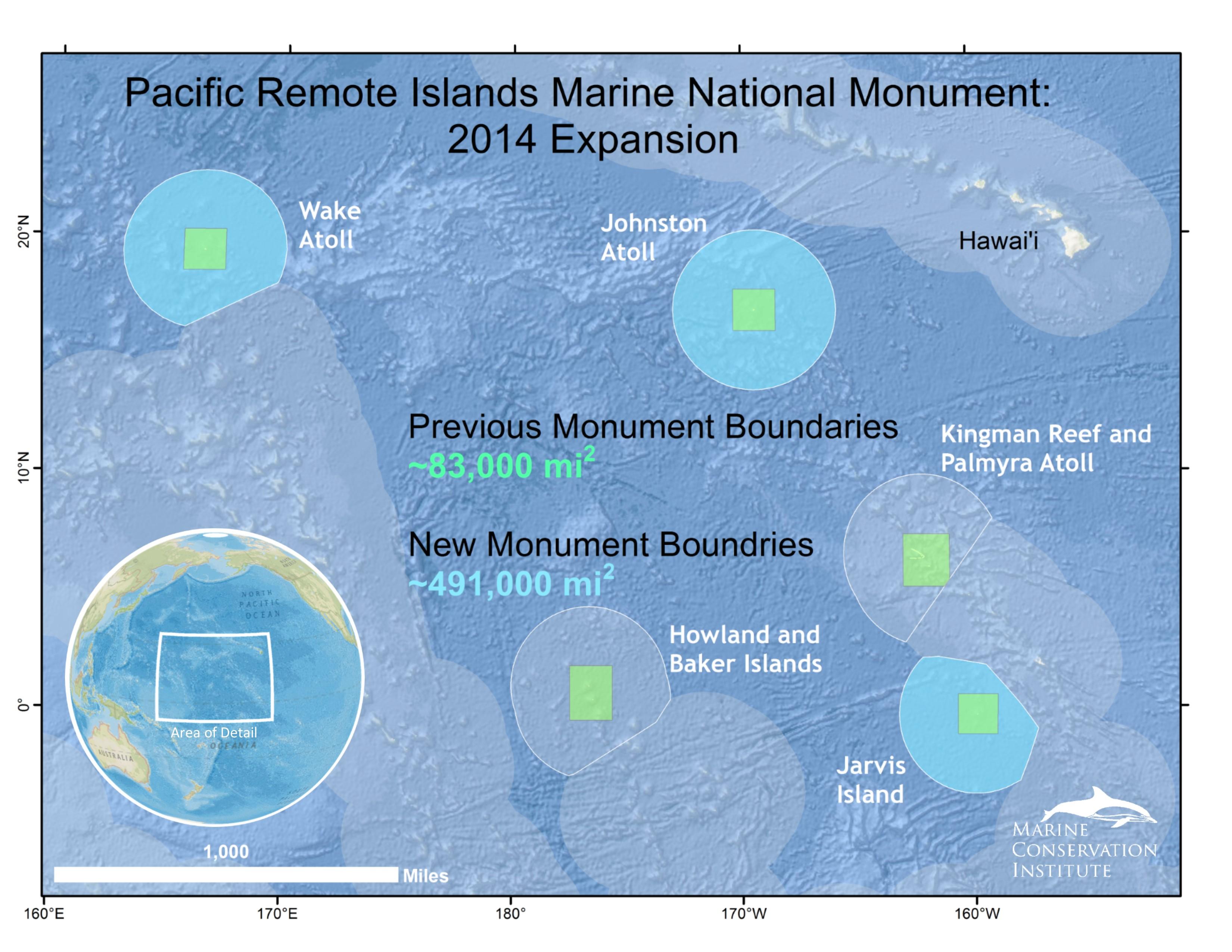 MPAtlas » Pacific Remote Islands Pacific Ocean Underwater Map